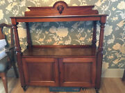 Not-so-big Victorian William Iv Walnut Sideboard Buffet With Slide-out Wine Tray