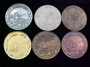 1623-1973 Portsmouth, Nh Lot Of 6 Medals Including The Rare Collector's Copper