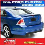 For 06-12 Ford Fusion Rear Trunk Deck Lip Spoiler Painted Abs Uh Tuxedo Black
