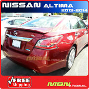 For 13-15 Nissan Altima Sedan Rear Spoiler Lip Painted Nah Cayenne Red