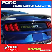 Painted Spoiler For 15-18 Ford Mustang Coupe Abs Trunk Mount Ua Pitch Black