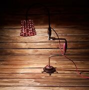 Unique Old Drill Lamp With Led Edison Bulb- Vintage Industrial Steampunk Loft