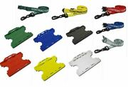 Contractor Lanyard Neck Strap With Double Sided Id Card Badge Holder - Free Pandp