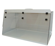 Cleatech Clear Polycarbonate 72 Ducted Fume Hood W/ Worksurface