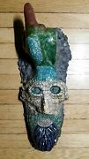 Awesome Vintage Psychedelic Abstract Studio Art Pottery Raku Sculpture