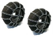 New 2 Link Tire Chains And Tensioners 15x6x6 For Kubota Lawn Mower Garden Tractor