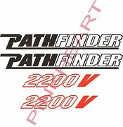 2- Pathfinder Decals 2- 2200v Pair Sticker Decal Boat Flats Path Finder Usa Boat
