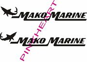 Mako Marine Pair Decals Vinyl Stickers Mako Boat Boats Decal 2 Decals Usa Made