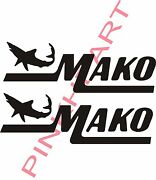 Mako Boat Decal Stickers Graphic Logo Decal Flats Boats Mako With Shark 12 X 4