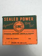 Gmc Cckw Piston Ring Set .020and039and039 270 256 Engine Ww2 Nos Sealed Power G508