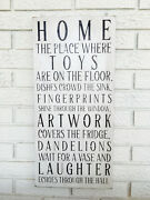 Home Sign, Family Home Sign, Home Sweet Home, New Home Gift, Housewarming Gift
