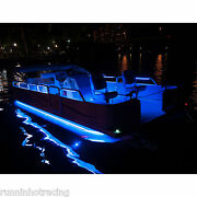 24 -32and039 Pontoon Boat Under Deck Led Lights Kit Rgb Blue 2 X 30and039 Does Both Sides