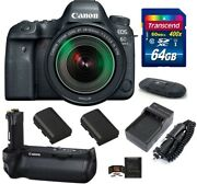 Canon Eos 6d Mark Ii Dslr Camera With 24-105mm F/3.5-5.6 Is Stm Lens Grip Bundle