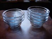 7 Vintage Fire King Philbe Sapphire Blue Cereal Tart Individual Pie Bowls