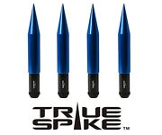 32 True Spike 7.5 14x1.5 Forged Steel Lug Nuts Blue Extended Big Fat Spikes B