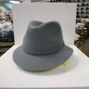 Borsalino Grey Outback Stingy Brim Fur Felt Fedora Dress Hat Read Below 4 Size