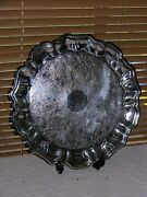Leonard Silverplate Footed Round Serving Tray