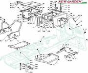 Exploded View Frame 40 3/16in Xt175hd Mower Lawn Parts Castelgarden 2002-13