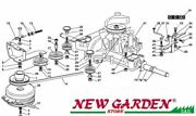 Transmission Exploded View 40 3/16in Tn170h Mower Lawn Castelgarden Ggp Parts