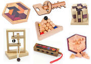 Iq Puzzle Mind Brain Teaser 2d Wooden Puzzles 3d Educational Game Wooden Toys