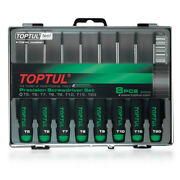 Toptul 8 Piece Precision Torx Screwdriver Set Gaaw0801