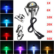 1-50pcs Led Decking Step Lanscape Light Waterproof Recessed Outdoor Stair Lamp