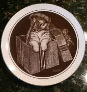 Droguett Puppy World Gift Wrapped Plate Number 212 Collie