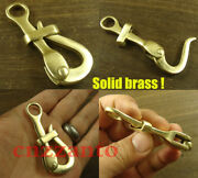 Totally Brass 2.7 Inch Quick Release Pelican Hook Shackle Sailing Boat Yacht