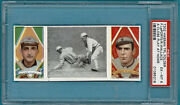 1912 T202 Hassan Triple Folders Laporte/wallace Andndash A Close Play At Home Psa 6