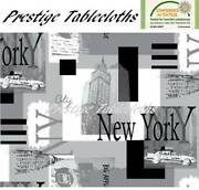 New York Pvc Vinyl Wipe Clean Tablecloth - All Sizes - Code F766-1