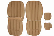 New Jaguar Xke E-type S2 Leather Seat Cover Made To Original Specs - Cinnamon