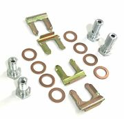 10 Mm And 7/16 Banjo Bolt And Copper Crush Washer Kit. Flex Hose Clips Included