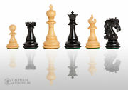 The Varese Luxury Chess Set - Pieces Only - 4.4 King - Genuine Ebony