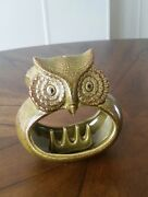 Vintage Mid Century Art Pottery Abstract Owl Ashtray Japan Excellent Condition