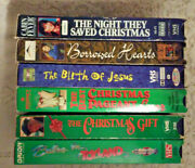 6 Vhs Lot The Night They Saved Christmas Gift Babes In Toyland Borrowed Hearts