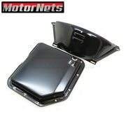 Black Chevy Th-350 Th350 Turbo 350 Transmission Pan And Flex Plate Cover Combo V8