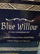 Dinnerware Set 20 Piece Churchill Blue Willow Plates Bowls And Cups