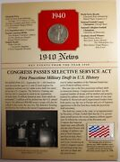 1940 News | Walking Liberty Half Dollar 50c | Key Events From The Year 1940