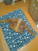 Hand Made Moose Hide Coat. Insulated And Lined .deer Antler Buttons.