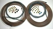 Complete Copper Nickel Brake Kit. 50 Foot 1/4 And 3/16 W Fittings /ss Armor