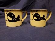 Old Spouter Nantucket - Rare - pair of coffee mugs, black