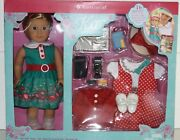 New American Girl Doll Kit Kittredge Special Ed Holiday 16pc Set Free Ship Today