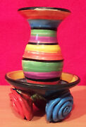 Mary Rose Young Pottery  Candle Holder - 1994