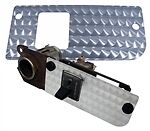 70 - 81 T/a Silver Dash Metal Filler Plate W/ Rear Defroster Switch Hole Only