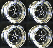New Mustang Magnum 500 Wheels 15x7 Set Of Complete W/ Caps And Lug Nuts 15x7