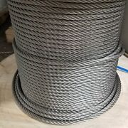 3/4 Stainless Steel Wire Rope Cable 6x19 Iwrc Type 304 300 Feet