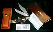 Schrade 227uh Knife And Sheath Uncle Henry 1980and039s W/original Packaging Papers