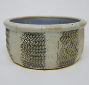 Hand Thrown Incised Art Pottery Planter Signed