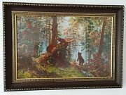 Reproduction Ivan Shishkin Completed Cross Stitch Embroidery Framed Large
