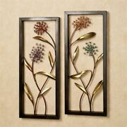 Summer Scents Wall Art Panel Set Multi Pastel Set Of Two